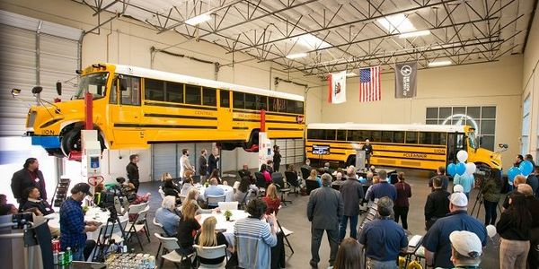"""The Lion Electric Co. opened a second educational facility, known as its """"Experience Center,"""" in..."""