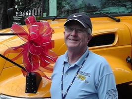 Ralph Crockett, a school bus driver from the York County (Va.) School Division, takes part in...