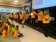 As part of the festivities, Rock Springs Elementary School students recognized their school bus...