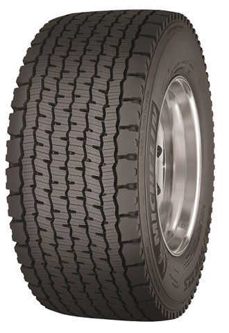 Michelin's new wide-base single drive tire, the X One Line Grip D, is available in 445/50R22.5 and 455/55R22.5 sizes.
