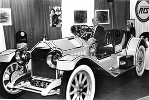 Dave Burkhart was Modern Tire Dealer's seventh editor. At the 1985 ARA Show in Louisville, Ky., he found time to relax in a very rare 1913 or 1914 Stutz Bearcat.
