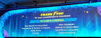 Goodyear Tire & Rubber Co. gave props to its oldest tire dealers, independent and otherwise, at its 2019 Customer Conference in Dallas.