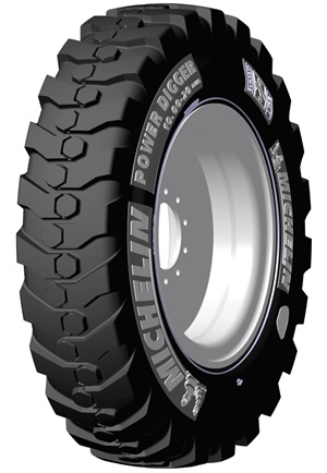 Michelin's new Power Digger compact tire line is designed for wheeled excavators.