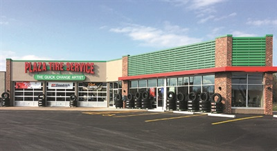 Plaza Tire Service opened its first store in Springfield, Mo., and plans a late summer opening for its second store in the city, a greenfield site now under construction.