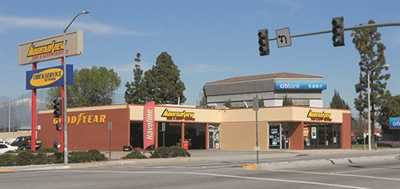 Mountain View Tire & Service's rebranding initiative involved 25 stores. The Rowland Heights, Calif., store is shown before rebranding and after.