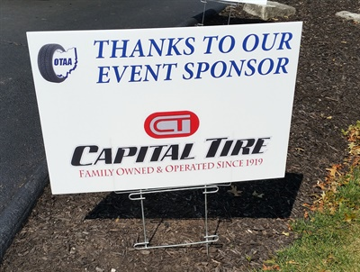 Capital Tire gave back at the recent Ohio Tire & Automotive Association Golf Outing by co-sponsoring the event.