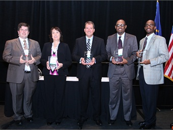 Last year's Innovative Solutions Awards winners from JTA, Capital Metro, Greater Cleveland RTA and St. Cloud Metro.