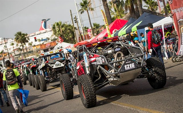 Lined up for tech inspection before the Baja 500.