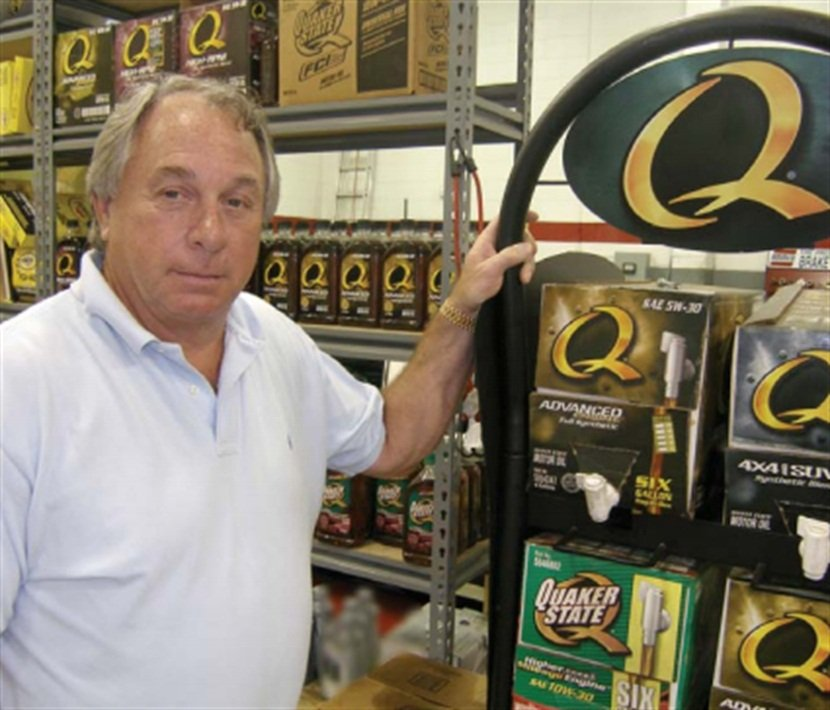 """""""Congratulations,"""" said Quaker State, """"from all of us."""""""
