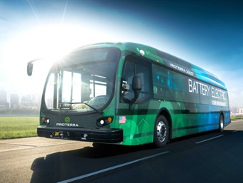 SporTran estimates that the new Proterra Catalyst buses will save more than $2.2 million on maintenance and fuel over the lifetime of the five vehicles. Photo: Proterra