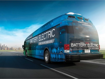 The new 40-foot Proterra buses will be used throughout SamTrans service area and can carry up to 38 seated passengers with up to another 18 riders standing.