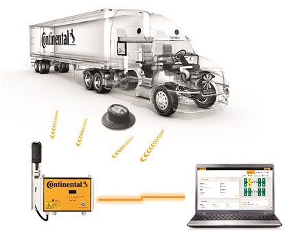 Continental's new ContiConnect system uses remote sensor readings to collect data and transmit it to any fleet location on the planet for evaluation.
