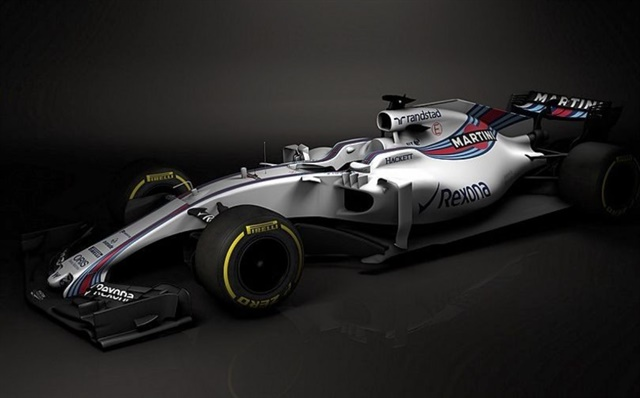 The Williams Mercedes FW40, a new design for the 2017 season.
