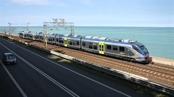 "The addition of 27 Coradia Meridian ""Jazz"" trains brings Trenitalia's ""Jazz"" train fleet to 118. Photo: Alstom"