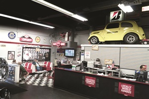 The showroom at Performance Plus Tire resembles a '60s diner setting with a heavy hot-rod theme. The company's website makes it very easy for the enthusiast to find and select tires and wheels from a wide-variety of suppliers.