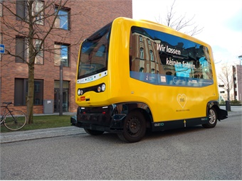LEA (mini) bus examined the prerequisites and deployment possibilities for automated vehicles in public transport.PTV Group