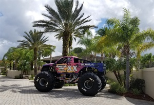 Did BKT Tires USA Inc. representatives drive to Tampa, Fla., in this Monster Jam World Finals truck? Doubtful, but it was on display at the OTR conference.