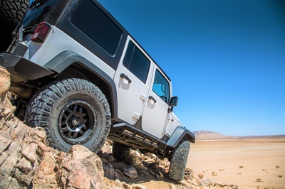 """""""Our top objective was to have an aggressive tread design with low noise,"""" says Nitto's Angelo Naval about the Ridge Grappler. After preparing 3D renderings of the hybrid-terrain tread pattern, Nitto sought market feedback from specialty shops and Nitto dealers, """"as well as individual enthusiasts."""""""