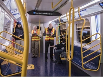The R211 cars feature 58-inch-wide door openings, which are eight inches wider than standard doors on existing cars. Photo:  MTA New York City Transit / Marc A.Hermann
