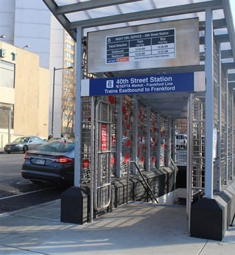 SEPTA was able to move ahead with renovations to its 40th Street Market-Frankford Line Station with Act 89 funding. Photo: SEPTA