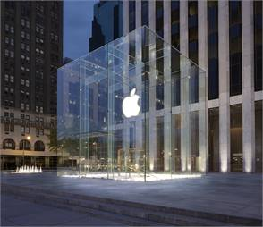 Apple's Fifth Avenue store. Photo courtesy Apple Inc.