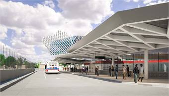 A rendering of the new 95th Street station.