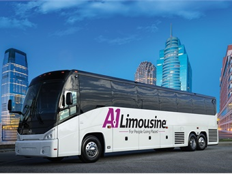 A-1 is taking its new J4500 coaches in a roomy 60-seat configuration and its two J3500 with a 44-seat layout. MCI