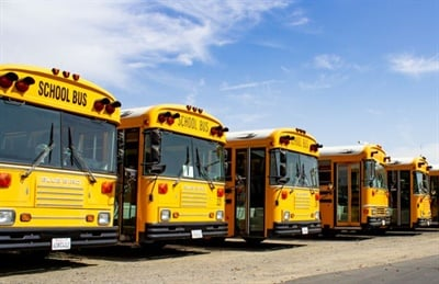 In SBF's October issue, a story covered tips on purchasing pre-owned school buses. Here, we share additional words of advice, including on vehicle titles and getting information at trade shows. Shown here are some of A-Z Bus Sales' pre-owned school buses.
