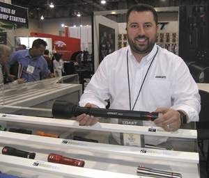 Elliot Ball, director of marketing for Coast Products, says batteries can be charged outside or inside the HP314R flashlight, so users always have a fresh battery.