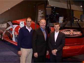 Pictured left to right: ABC's Dane Cornell, Badger's John Meier and ABC's Roman Cornell.