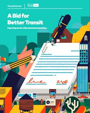 A new report conducted by Transit Center and Eno Center for Transportation analyzes how contracting can be done successfully, and what agencies should avoid. Photo: TransitCenter