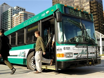 Previous reasearch found a reduction in daily driving, even by a mile a day, was associated with a reduction in body mass index. Photo: AC Transit