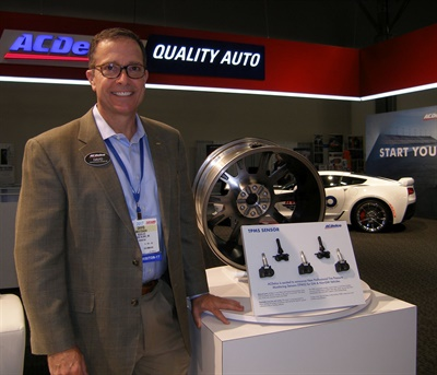 """David Mestdagh says ACDelco's design strategy for its new TPMS sensor line for all makes and models was to """"deliver a high quality part while reducing stocking requirements and installation time."""""""