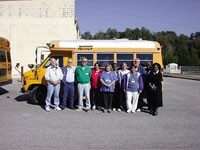 The transportation staff at Childhood Development Services in Ocala, Fla., helps to safely transport 320 students for an anuual mileage of 74,500.