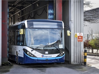 A 38-foot Alexander Dennis Ltd. Enviro200 bus has been fitted with the CAVstar® system provided by Fusion Processing Ltd, and is being piloted by Stagecoach. ADL
