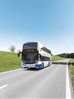 The approximately 42-foot, three-axle Enviro500 buses will serve regional routes, which provide connections between city and countryside.