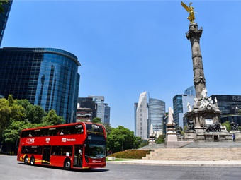 Earlier this year, 90 double-deck buses entered service in Mexico City as part a landmark Latin American deal that was supported by the Government's UK Export Finance agency. ADL