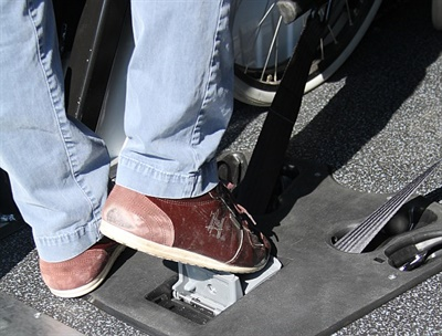 The Hide-A-Way is also designed to be foot-activated for easier use.