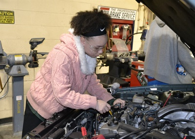Maliyah Ramsey is a high school junior in Akron, Ohio, studying automotive technology at East Community Learning Center. Akron Public Schools is creating specific career-minded academies at each of its high schools, and it's received a boost from Bridgestone Americas Inc. The tire maker sponsors the Bridgestone Academy of Applied Engineering and Technology, which includes an automotive curriculum, as well as electrical engineering, interactive media and welding classes.