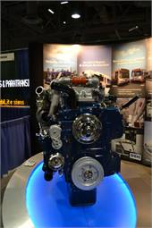 Complete Coach Works displayed its Navistar MaxxForce engine, its newest clean diesel option for repowered transit buses.