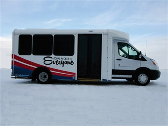 The fully accessible low-floor Independence provides a single, wide entrance and contains no steps throughout the bus.