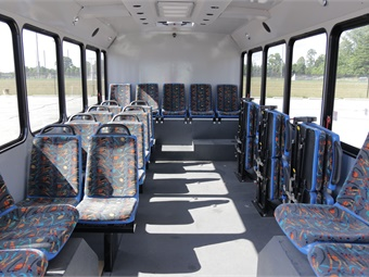 Additionally, with best-in-class passenger flow utilizing a single, non-discriminatory patented accessible front passenger ramp, the Equess bus allows riders of all abilities to use the same entrance.