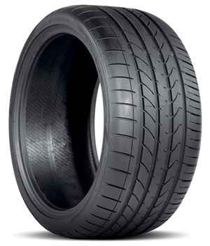 The Atturo AZ850 features an asymmetric tread pattern with different inside and outside contours.