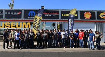 Twenty-five Alliance customers and their guests won the grand prize trip which included two full days on the track.