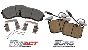 Four new ProAct and Euro ultra-premium disc brake pad part numbers increase coverage by 1.2 million vehicles.