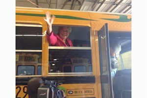 """""""Propane is cheaper, cleaner and domestically produced,"""" said Alabama Lt. Gov. Kay Ivey, who took a test ride on one of Mobile County Public Schools' new propane buses. """"This is an environmental initiative I can get behind."""""""
