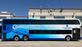 OmniRide, the commuter bus service of the Woodbridge, Virginia-based Potomac and Rappahannock Transportation Commission.