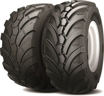 Alliance says the 398 MPT is the only DOT-rated directional radial flotation tire.