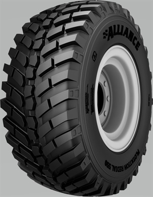 Alliance says the radial construction of the MultiUse 550 tire gives it an enlarged footprint, which increases traction and decreases tire spinning, while its steel belts help prevent uneven wear.