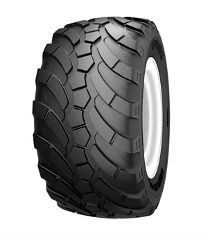 The Agriflex+ 389 VF flotation tire is rated for speeds up to 40 mph.